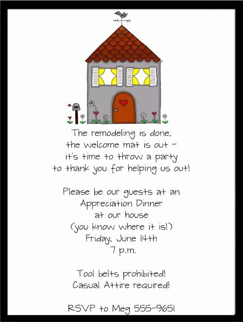 Housewarming Party Invitation Templates Elegant New Remodel Housewarming Party Invitations