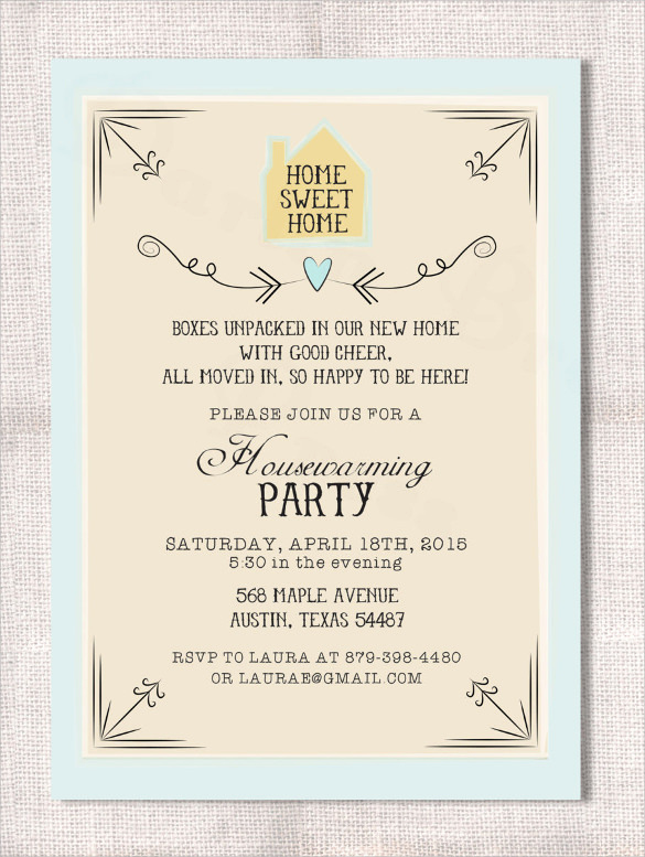 Housewarming Party Invitation Templates New Housewarming Invitation Template 11 Download Documents