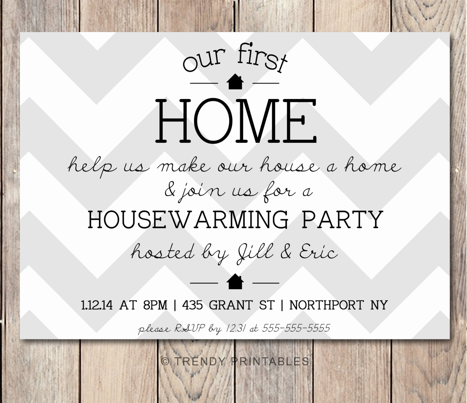 Housewarming Party Invitation Wording Luxury Housewarming Party Invitation Housewarming by Trendyprintables