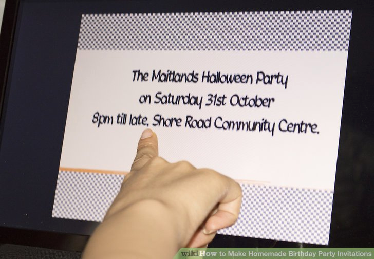 How to Make Homemade Invitation Best Of 3 Ways to Make Homemade Birthday Party Invitations Wikihow