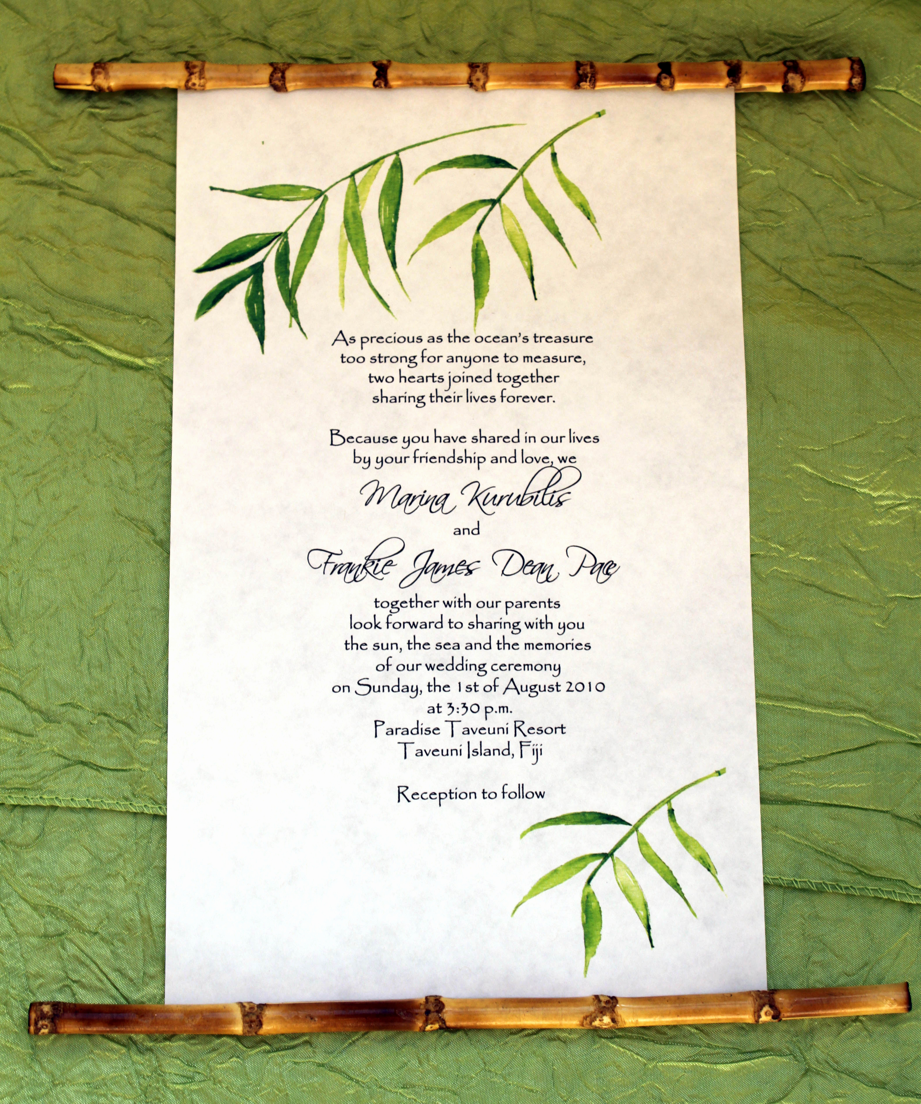 How to Make Scroll Invitation Awesome Bamboo Scroll Invitations From Designs by Lenila