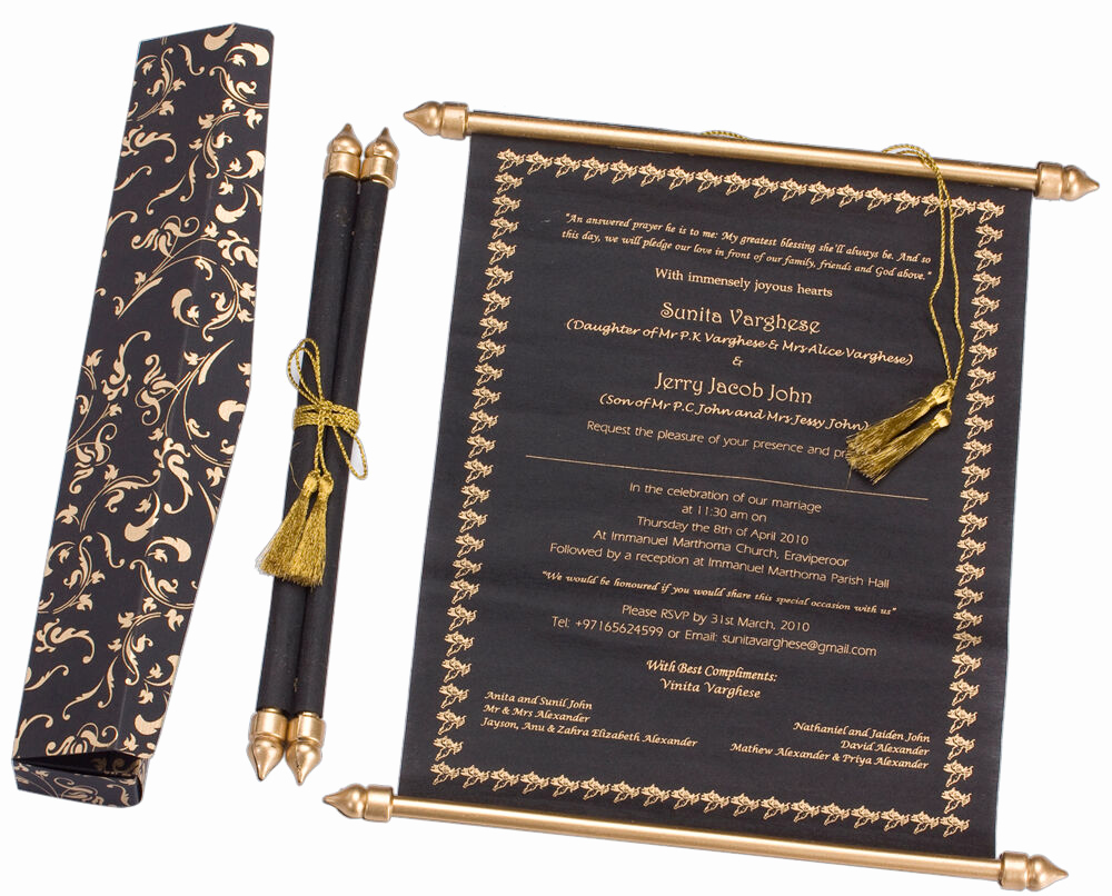 How to Make Scroll Invitation Awesome Royal Handmade Scroll Wedding Invitation Wedding Scrolls