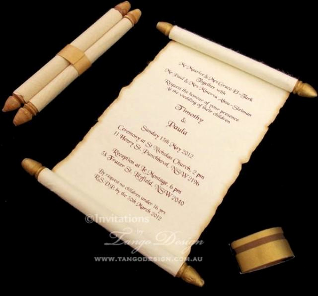 How to Make Scroll Invitation Best Of Burnt Edges Scroll Card Invitations X50 Wedding Scroll