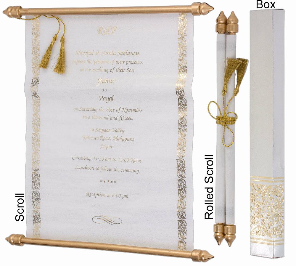 How to Make Scroll Invitation Fresh Scroll Wedding Invitation Wedding Scrolls S936