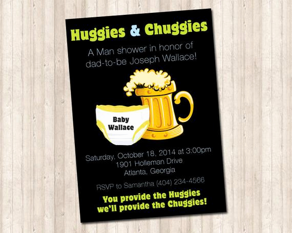 Huggies and Chuggies Invitation Awesome Huggies and Chuggies Baby Shower Invitation by