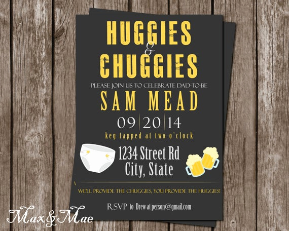 Huggies and Chuggies Invitation Beautiful Diaper Party Invitation Diapers and Drinks Invitation