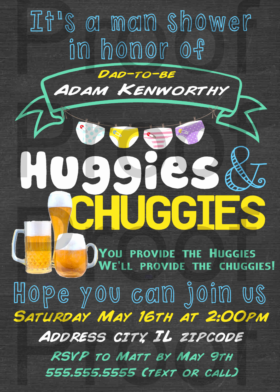 Huggies and Chuggies Invitation Beautiful Personalized Huggies and Chuggies Party Invitation Printable