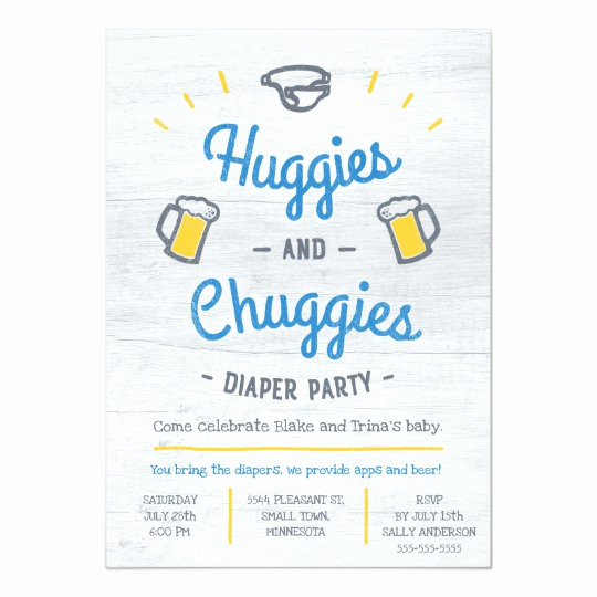 Huggies and Chuggies Invitation Elegant Huggies and Chuggies Diaper Party Invitation