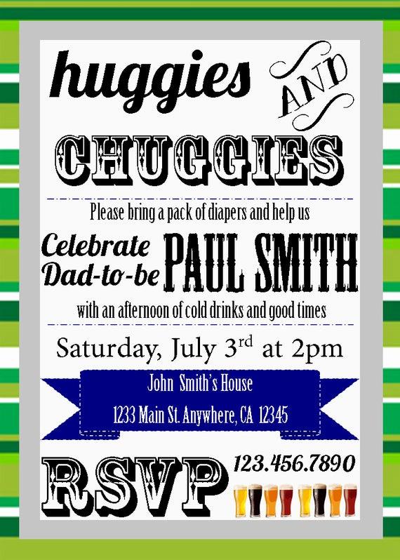 Huggies and Chuggies Invitation Elegant Items Similar to Huggies & Chuggies Dad Baby Shower