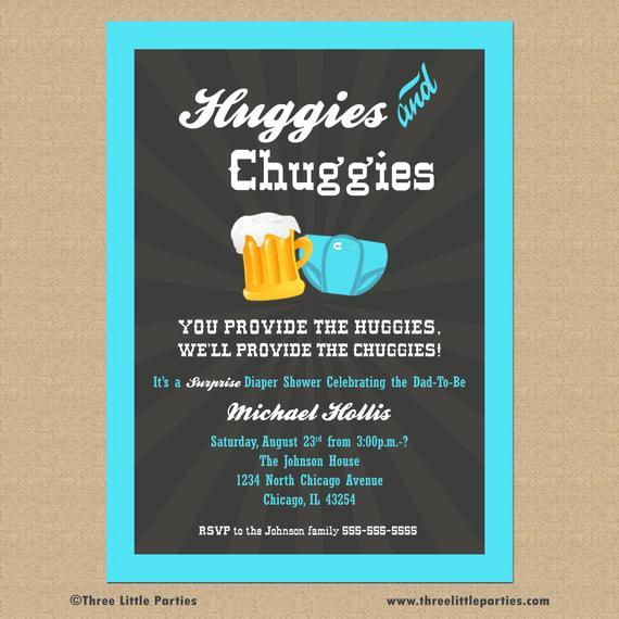 Huggies and Chuggies Invitation Inspirational Beer and Diaper Shower Invitation Huggies and Chuggies Party
