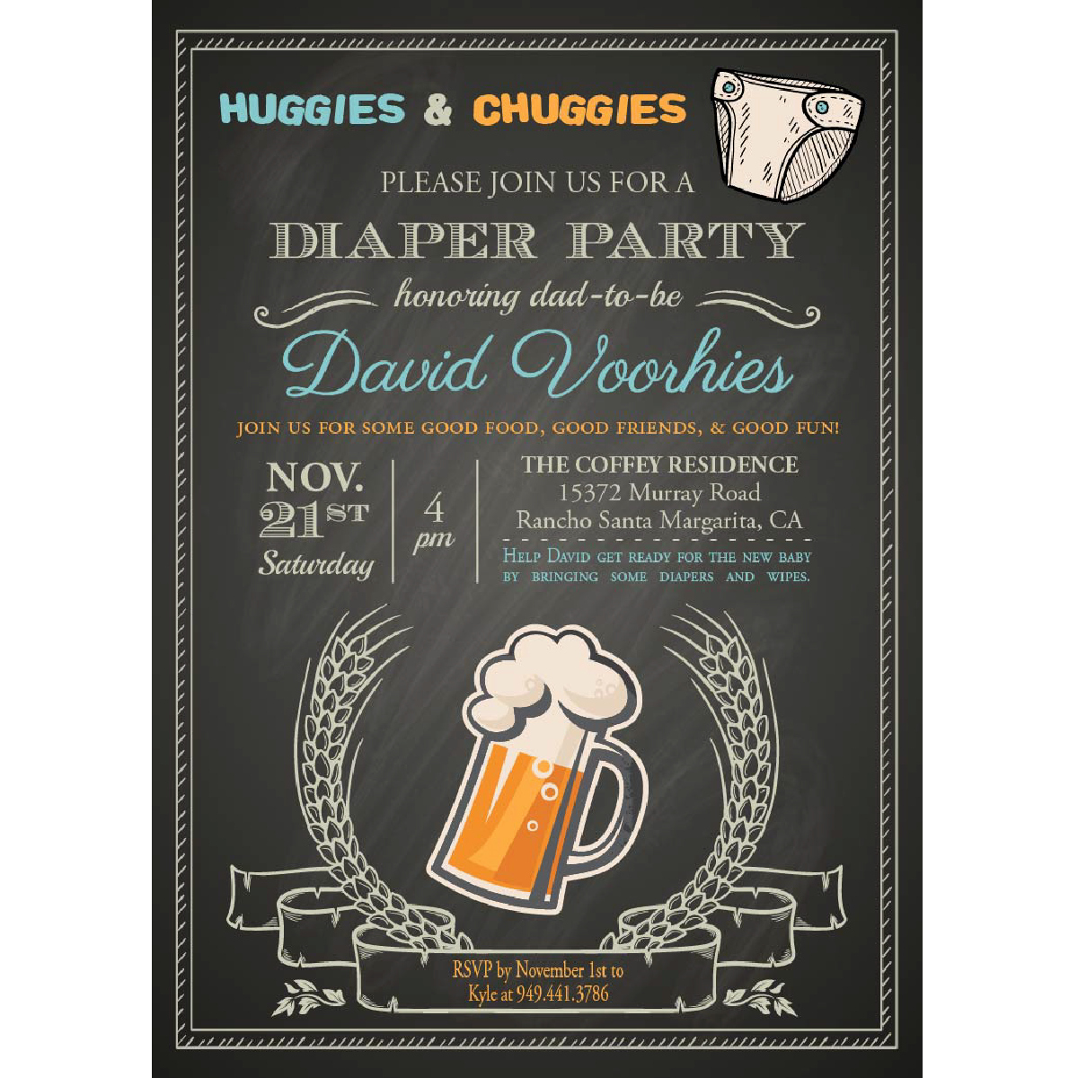 Huggies and Chuggies Invitation Inspirational Huggies & Chuggies Diaper Party Invitations – Blackline