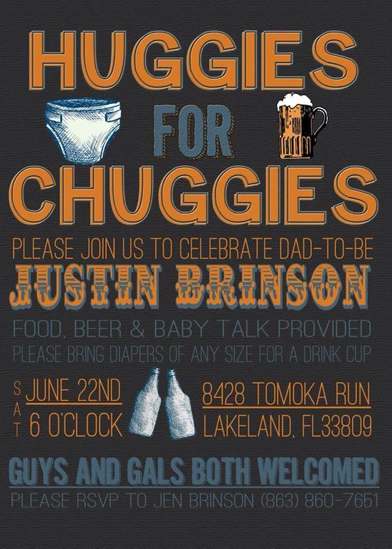 Huggies and Chuggies Invitation Inspirational Huggies for Chuggies Diaper Party Invitation by Chevrondreams
