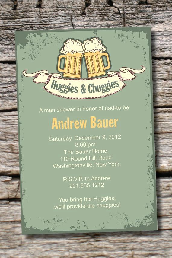 Huggies and Chuggies Invitation Inspirational Vintage Huggies & Chuggies Bbq Beer and by Paperheart Pany