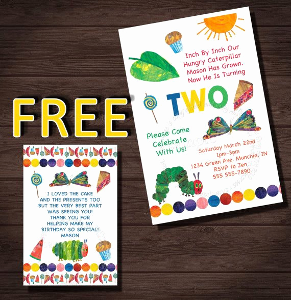 Hungry Caterpillar Invitation Template Lovely Very Hungry Caterpillar Invitation Very Hungry