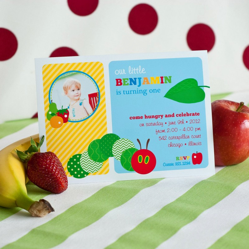 Hungry Caterpillar Invitation Template New Caterpillar Birthday Party Printable Invitation with