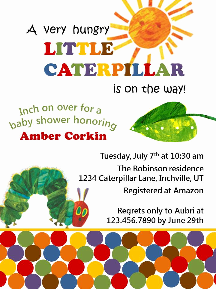 Hungry Caterpillar Invitation Template New How to Throw A Very Hungry Caterpillar Baby Shower the