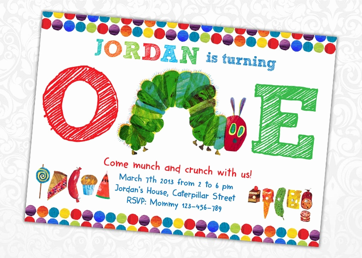 Hungry Caterpillar Invitation Template New Very Hungry Caterpillar Invitations