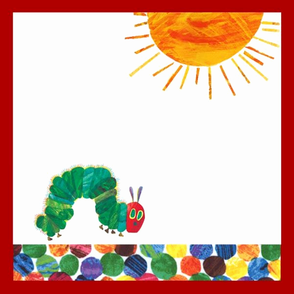 Hungry Caterpillar Invitation Template Unique Very Hungry Caterpillar Free Printables