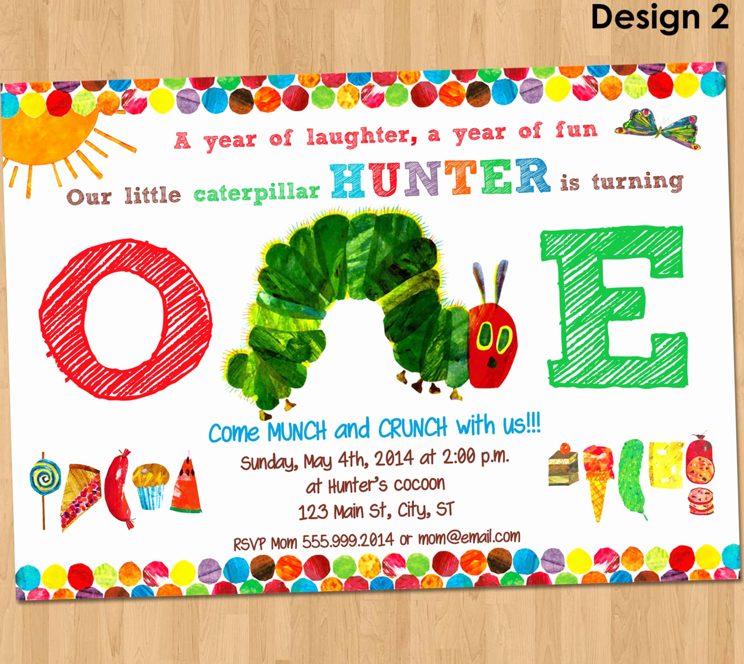 Hungry Caterpillar Invitation Template Unique Very Hungry Caterpillar Invitation First by