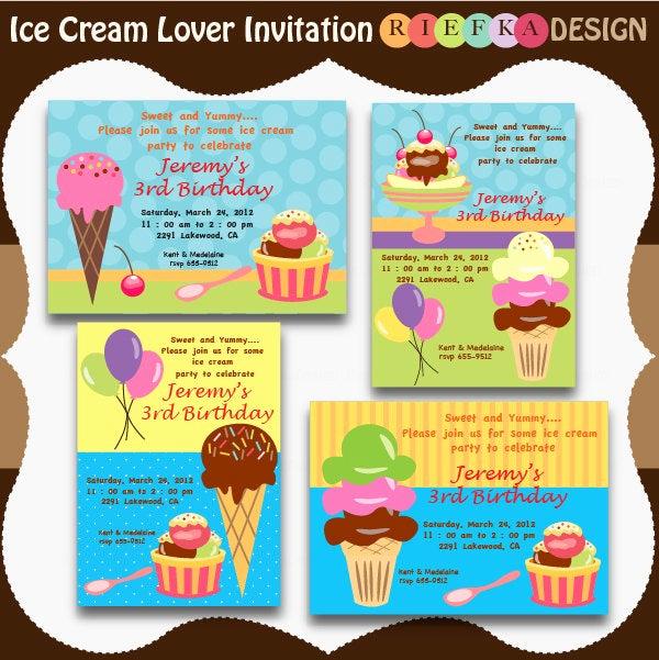 Ice Cream Invitation Template Beautiful Ice Cream Lover Invites Blank Invitation Template for by