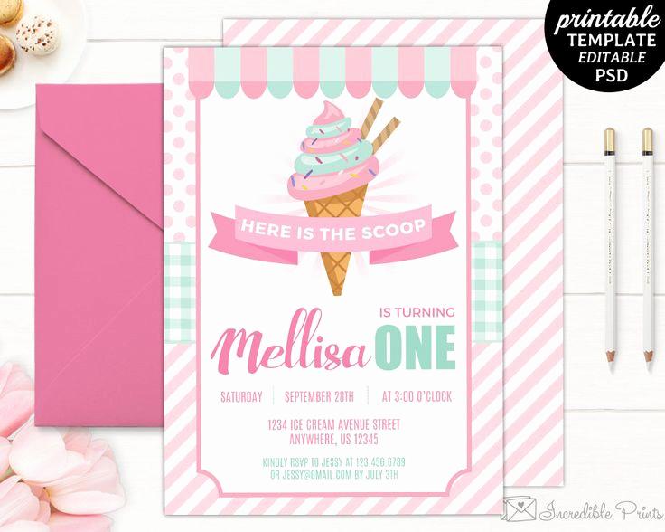Ice Cream Invitation Template Inspirational 17 Best Ideas About Ice Cream Invitation On Pinterest