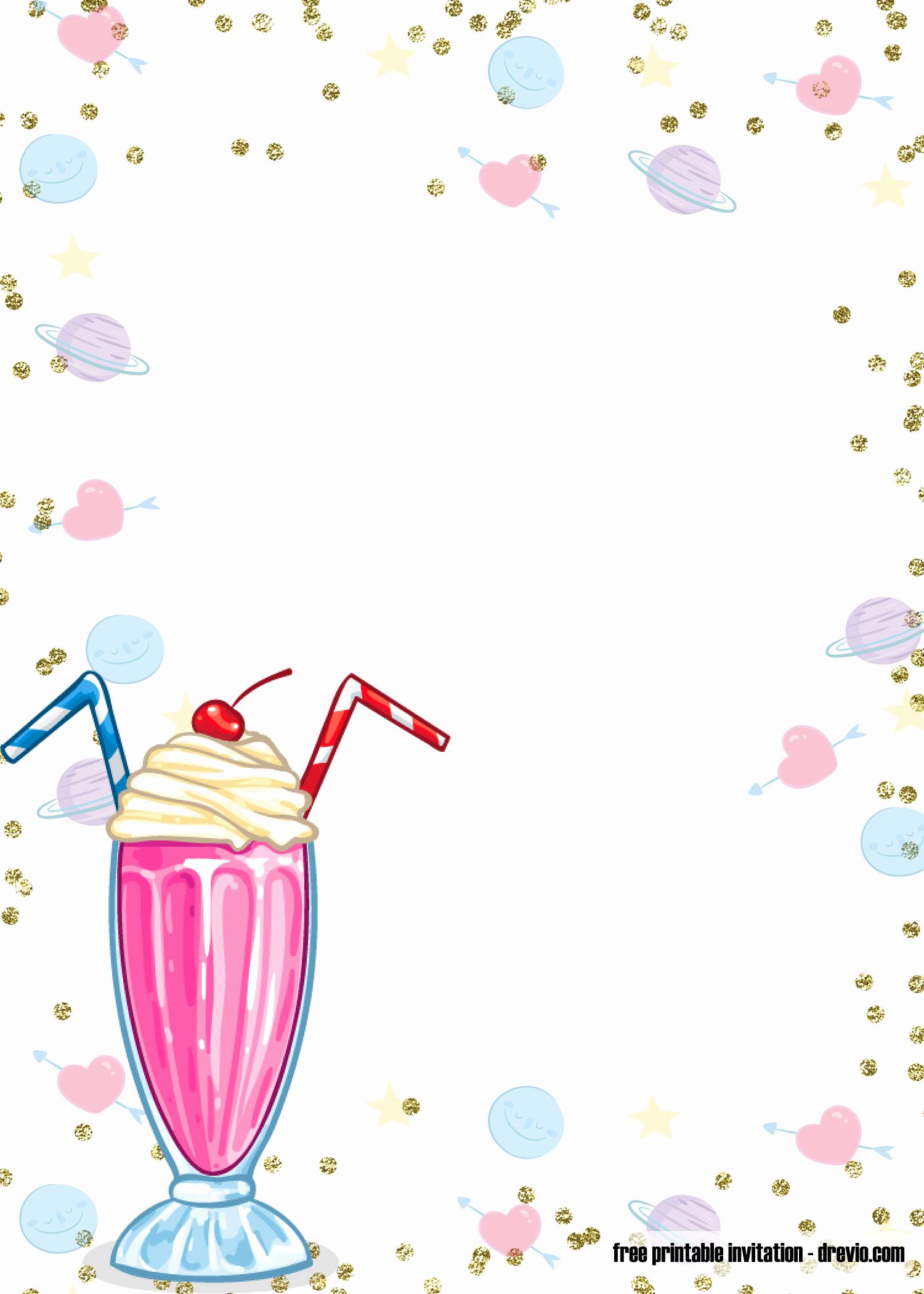Ice Cream Invitation Template Inspirational Free Printable Ice Cream Birthday Invitation Templates