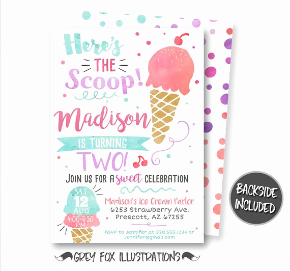 Ice Cream Party Invitation Beautiful Ice Cream Invitation Ice Cream Birthday Invitation Ice Cream