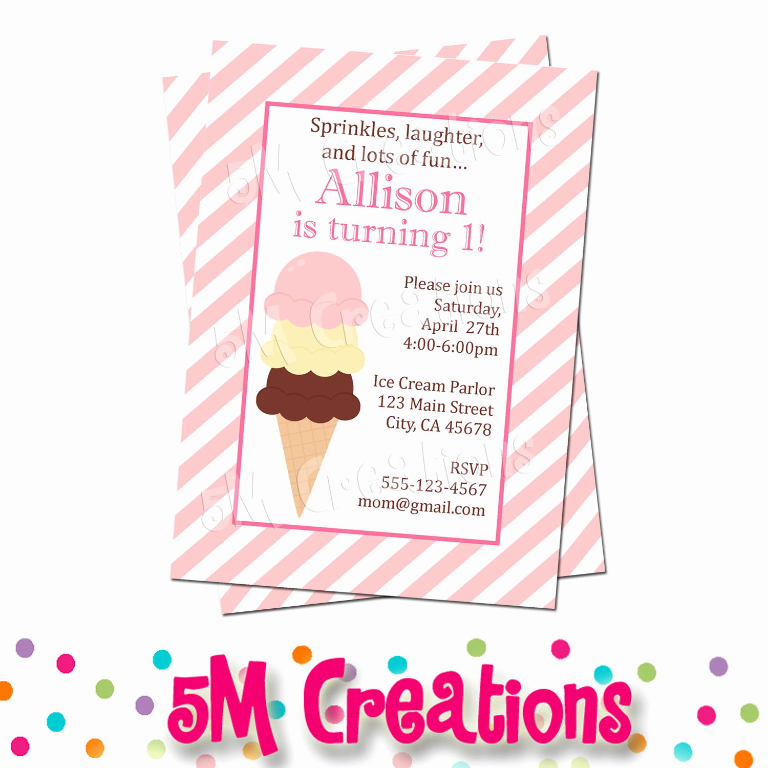 Ice Cream Party Invitation Best Of Ice Cream Party Invitation Ice Cream Birthday Party Ice