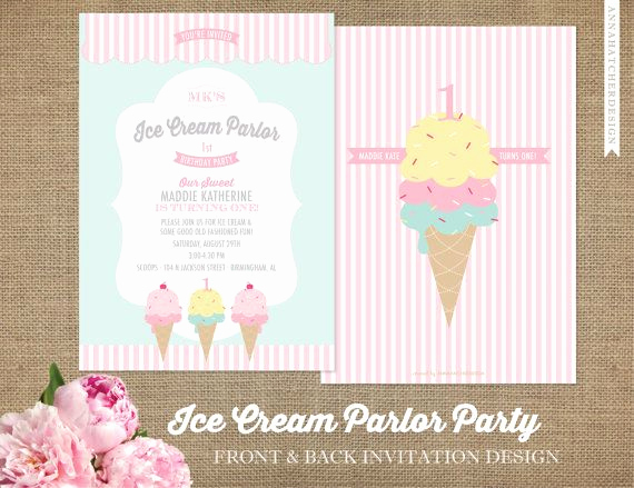 Ice Cream Party Invitation Lovely Best 20 Ice Cream Invitation Ideas On Pinterest