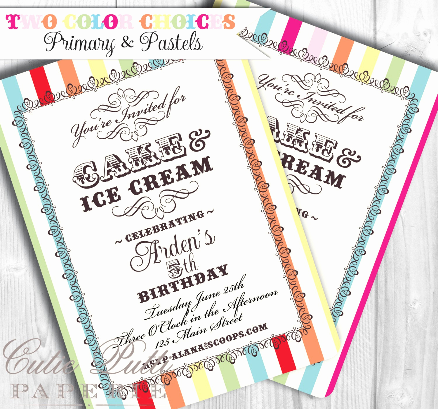 Ice Cream Party Invitation Lovely Ice Cream Party Invitations Printable Custom Invitations by