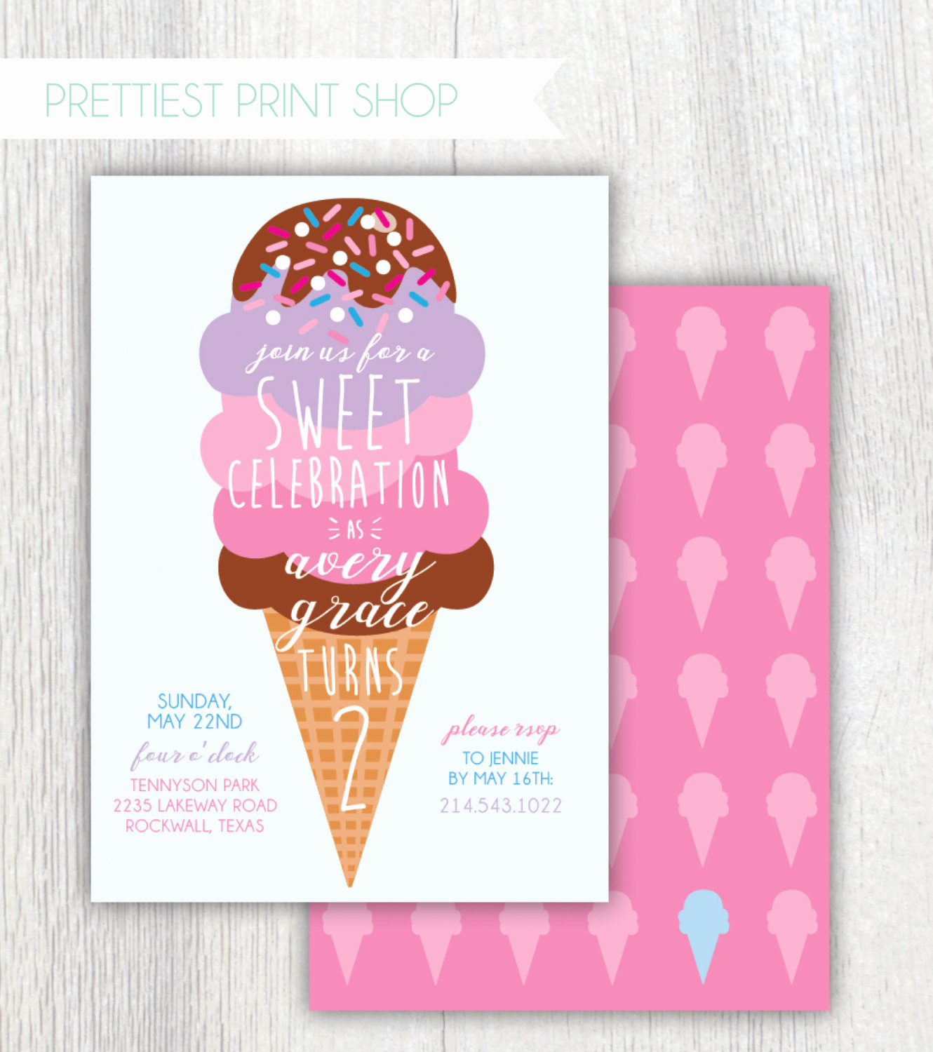 Ice Cream Party Invitation New Printable Ice Cream Birthday Party Invitation Sweet