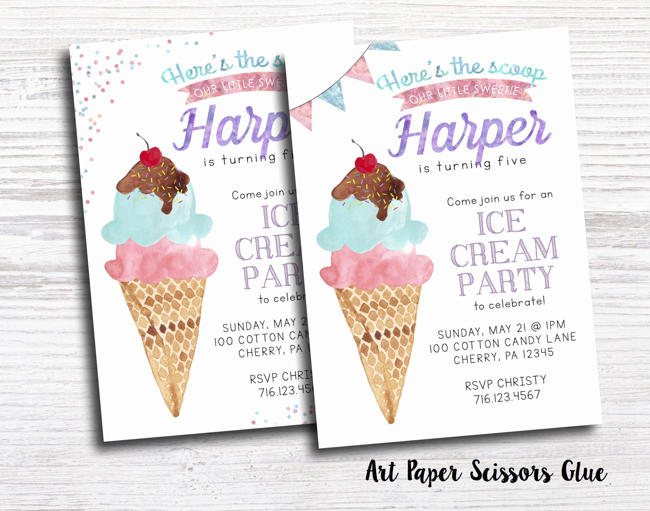 Ice Cream social Invitation Awesome Ice Cream Party Invitations Ice Cream social Invitations Ice