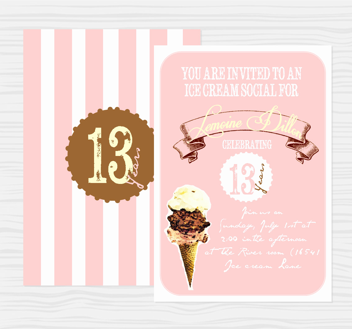Ice Cream social Invitation Elegant Items Similar to Vintage Ice Cream social Party