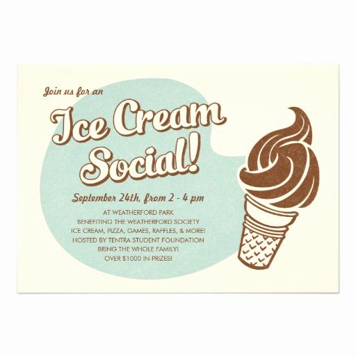 Ice Cream social Invitation Fresh Retro Style Ice Cream social Invitations