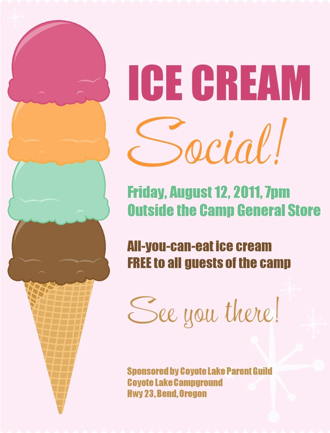 Ice Cream social Invitation Template Beautiful Ice Cream social Free Printable Pta Ideas