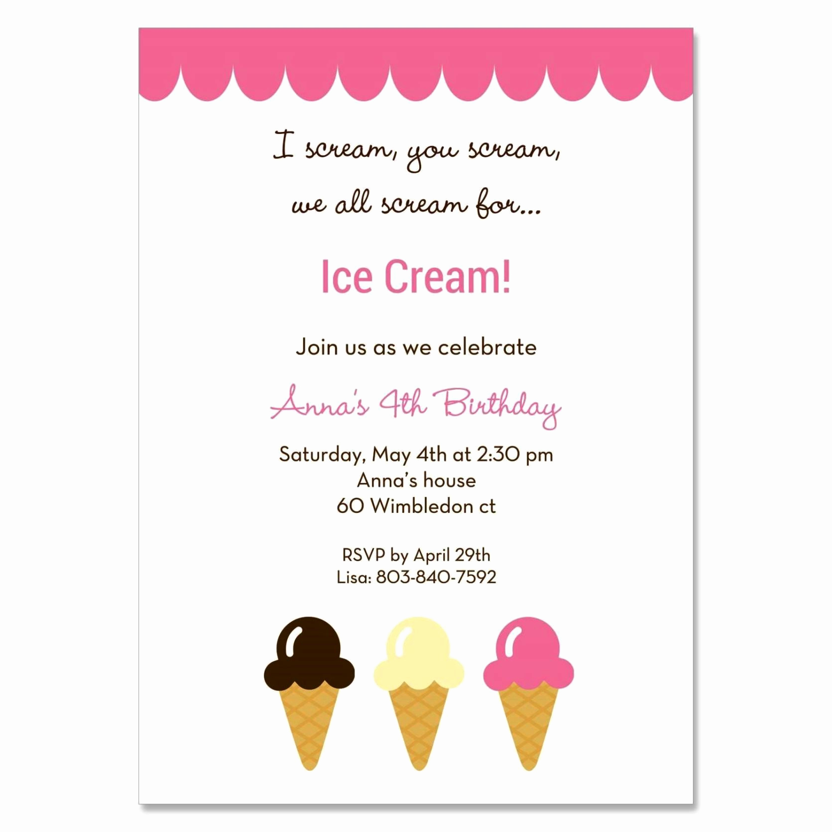 Ice Cream social Invitation Template Beautiful Ice Cream social Invitation Template Sampletemplatess