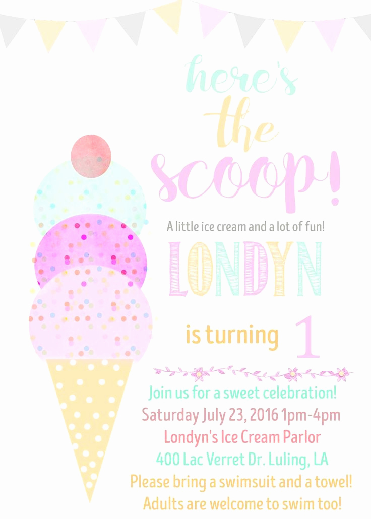 Ice Cream social Invitation Template Elegant Best 20 Ice Cream Invitation Ideas On Pinterest