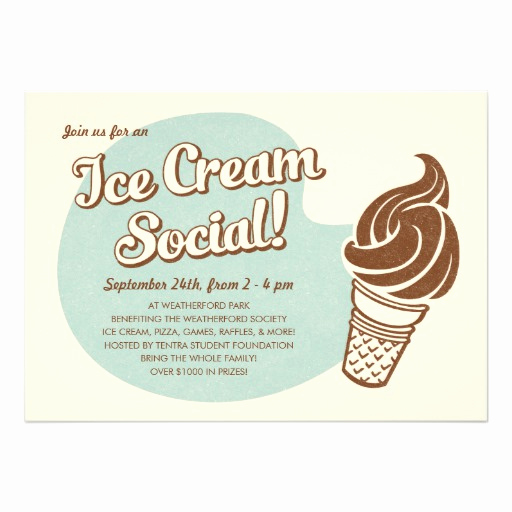 Ice Cream social Invitation Template Fresh Ice Cream social Invitations