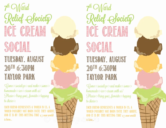 Ice Cream social Invitation Template Fresh Unavailable Listing On Etsy