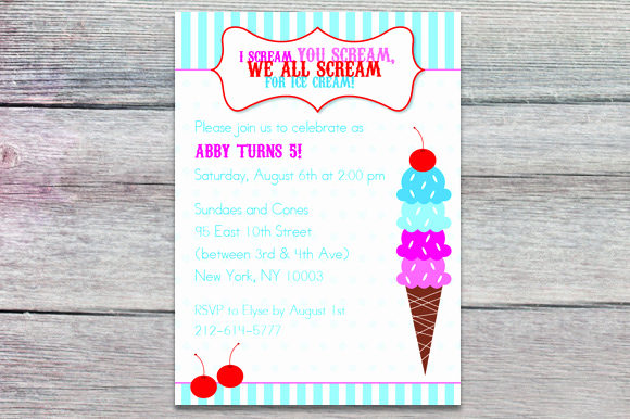 Ice Cream social Invitation Template Lovely Ice Cream social Flyer Word Template Designtube