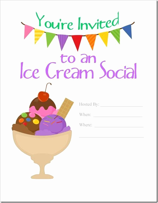 Ice Cream social Invitation Template Lovely Ice Cream social Invitation Ice Cream social Invite Ice