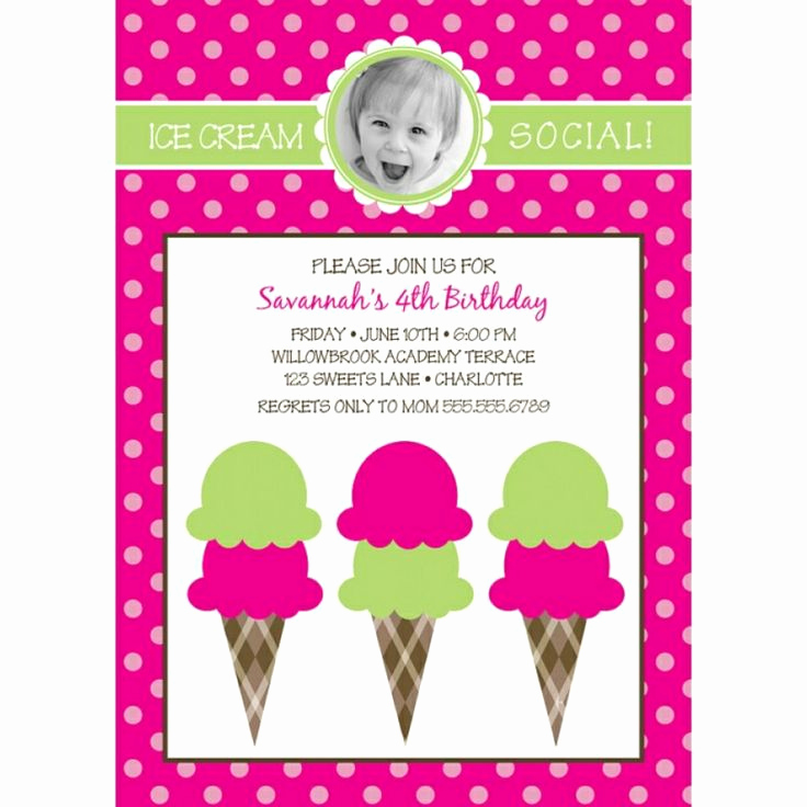 Ice Cream social Invitation Template Unique 15 Best Invitation Template Images On Pinterest