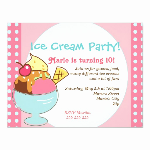 Ice Cream social Invitation Templates Best Of Ice Cream Party Invitation