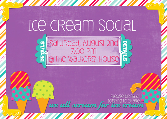 Ice Cream social Invitation Templates Elegant Ice Cream social Invitation Snap Supply Co