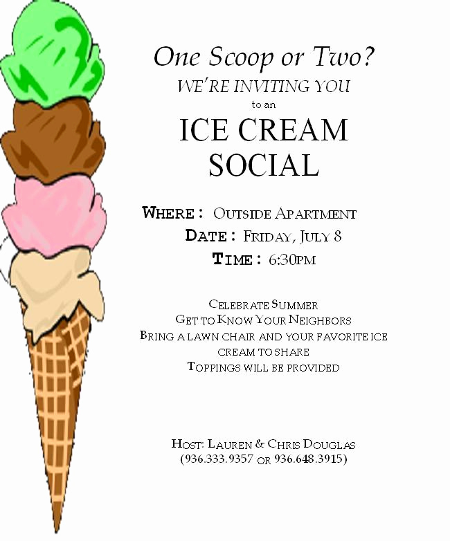 Ice Cream social Invitation Templates Inspirational Life In the Land Of Douglas