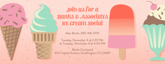 Ice Cream social Invitation Templates Luxury Invitations Free Ecards and Party Planning Ideas From Evite