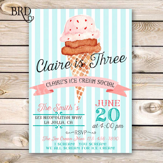 Ice Cream social Invitation Wording Awesome Ice Cream social Invitation Ice Cream Party Ice Cream Birthday