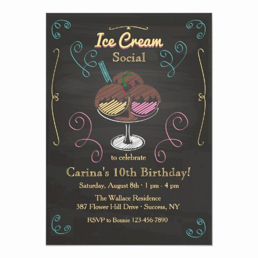 Ice Cream social Invitation Wording Awesome Ice Cream social Invitation