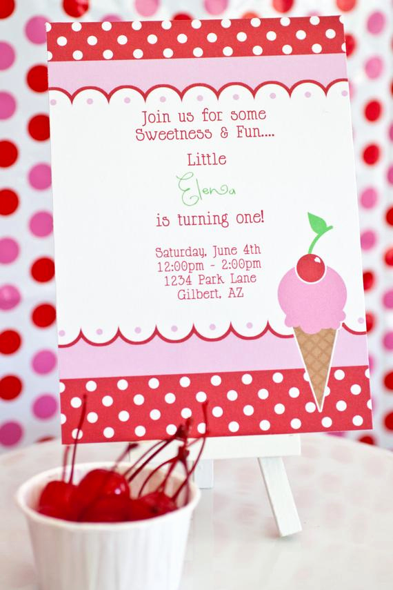Ice Cream social Invitation Wording Fresh Items Similar to Printable Party Invitation Ice Cream