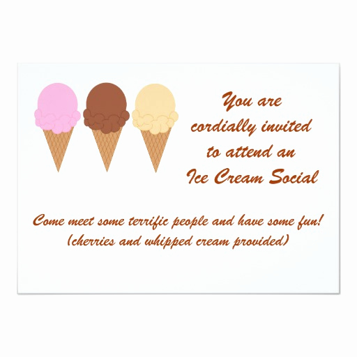 Ice Cream social Invitation Wording Luxury Ice Cream social Invitation